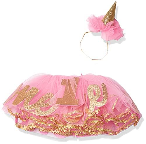 Mud Pie Baby Girls' Glitter Headband and Tutu Set, one/Party Hat, 0-12 Months