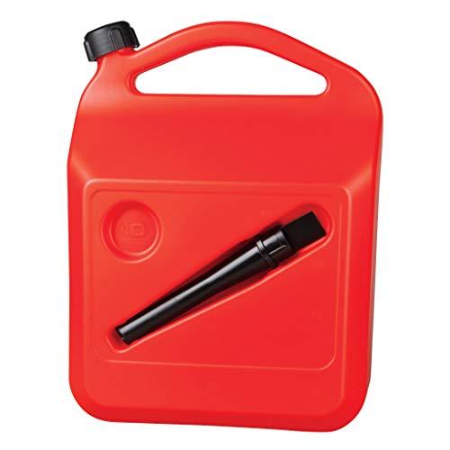 HABILL-AUTO Bidon jerrican à Carburant en Plastic homologué EU 10L + Bec verseur