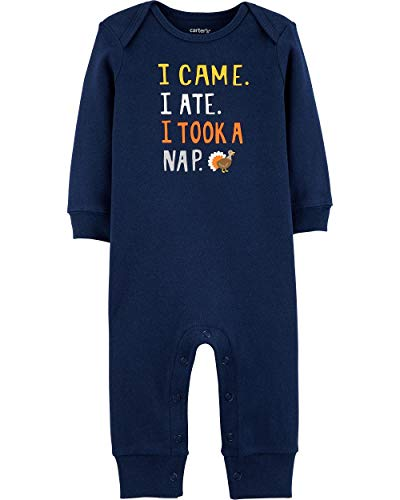 Carter's My First Thanksgiving Jumpsuit (6Months) Navy, 6 Months