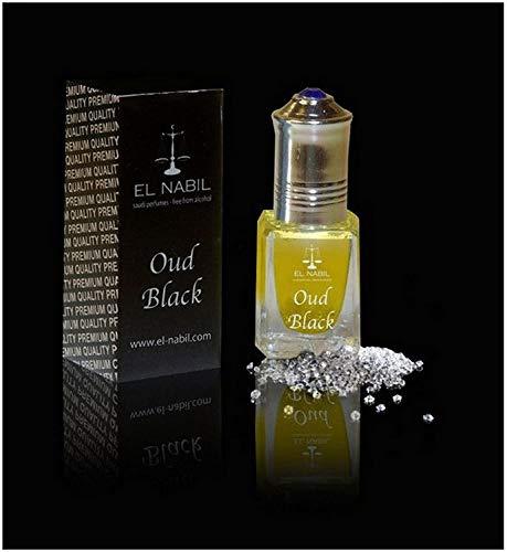 EL NABIL 5 ml Musk OUD BLACK 100% olie NOTEN: Vetiver, wierook, patchouli, benzoë