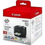Canon PGI-2500XL Cartouche BK/C/M/Y MultipacK Noir, Cyan, Magenta, Jaune XL (Multipack plastique)