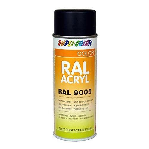 Dupli-Color 472558 RAL-Acryl-Spray 9005, 400 ml, Tiefschwarz Seidenmatt