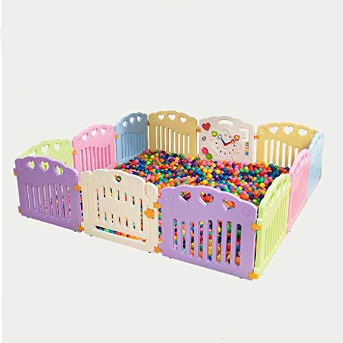 JIMI-I Baby Playpen Play Centre d'activités pour Enfants Sécurité Play Yard Home Indoor Outdoor (10 Panneaux / 12 Panneaux) (Taille : 12 Panel)