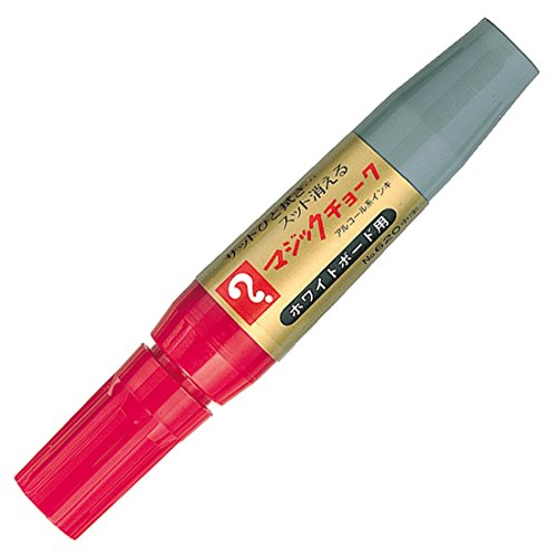 寺西化学 ボードマーカー マジックチョーク 中字 M620-T2 赤