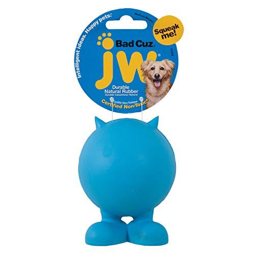 JW JW43168 Bad Cuz, Gummiball für Hunde, M