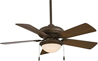 Minka-Aire F563-SP-ORB Downrod Mount, 5 Dark  Blades Ceiling fan with 76 watts light, Oil-rubbed Bronze