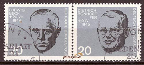 philaseum Briefmarken BRD 1964, Mi.Nr. 432-433 waagerechtes Paar, 20. Jahrestag des Attentats auf Adolf Hitler, Gestempelt