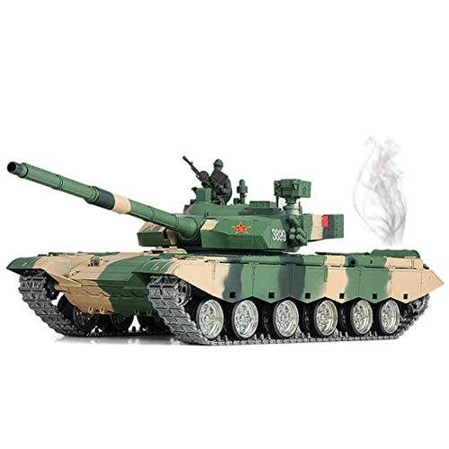 GODNECE Panzer mit Fernbedienung, 2.4G Battle Panzer 1/16 Militär Panzer Spielzeug Militärfahrzeuge Modelle mit Rauch Geräuschen Kanonenkugel abfeuern-Chinesisches ZTZ 99A MBT