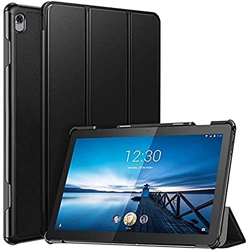 """ZtotopCase Custodia per Lenovo Tab M10 HD 10.1""""(1.Gen) 2018(TB-X505L / TB-X505F / TB-X605L / TB-X605F), Cover PU Ultra Sottile con Coperchio Frontale Ripiegabile per Lenovo Tab M10 HD 10,1, Nero"""