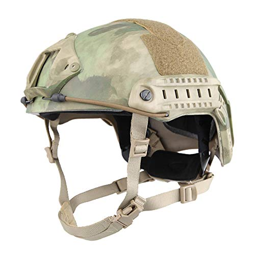 EMERSONGEAR Tactical Protective Helmet,ABS Engineering Plastics Fast Helmet Adjustable Suspender Straps for Best Fitting Airsoft Paintball Hunting at-FG