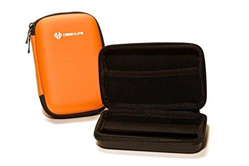 Case4Life Naranja Dura cámara compacta Funda Caso Bolsa para Panasonic Lumix DMC-3D1, DMC-FT5, DMC-TZ40, DMC-TZ57, DMC-TZ60, DMC-TZ70, DMC-TZ80EB - Garantía de por Vida