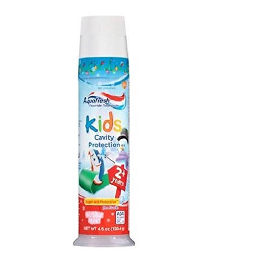 Aquafresh Kids Cavity Protection Toothpaste, Bubblemint 4.6...