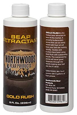 Gold Rush - #1 Bear Bait Attractant Additive, Strong Butterscotch Aroma Bears Can't Resist, 1 8oz. Bottle
