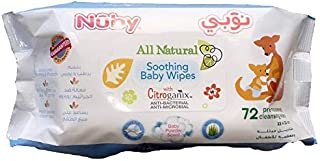 Nuby Citroganix All Natural Anti Bacterial & Microbial Wet Wipes, 72 wipes, 1046068