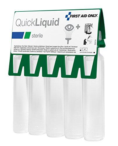 First Aid Only Sterile Augenspüllösung QuickLiquid für die Erste-Hilfe, 1er Pack (1 x 5 Stück)