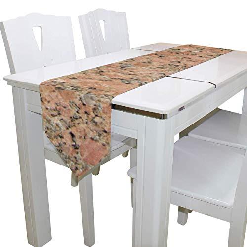 N/A Eettafel Runner Of Dresser Sjaal, Graniet Deck Tafelkleed Runner Koffie Mat voor Bruiloft Partij Banket Decoratie 13 x 90 inch