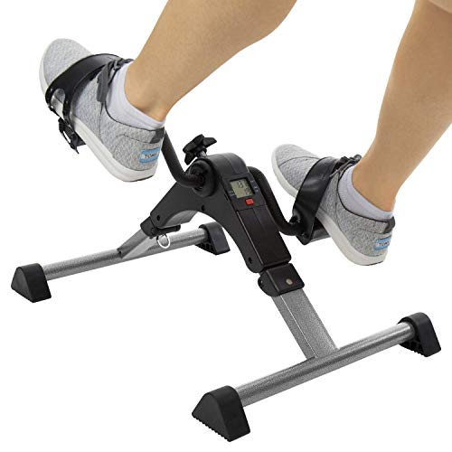 Vive Desk Bike Cycle - Foot Pedal Exerciser - Foldable Portable Foot, Hand, Arm, Leg Exercise...