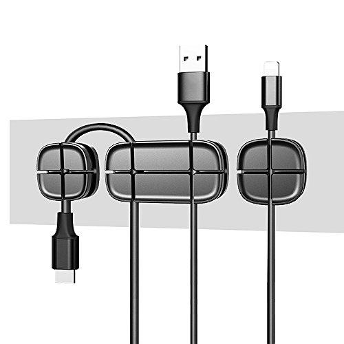 Mmrm Silikon Kreuz Kabelaufwicklung Draht Linie Organizer Kabelmanagement Kabel Clip USB-Datenkabel schwarz