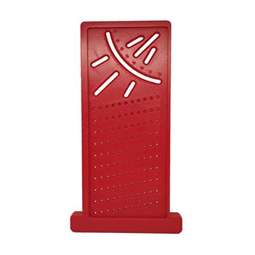 3D carpenter measuring ruler 3D Angle ruler square wood measuring tool carpenter marking ruler hole ruler 3D ruler carpenter-Red