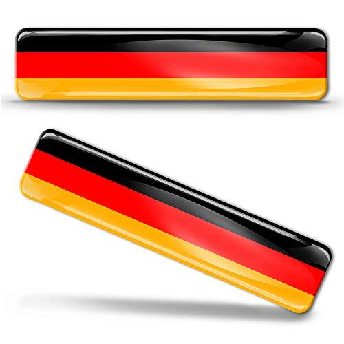 Biomar Labs® 2 x Aufkleber 3D Gel Silikon Stickers Germany Flag Deutsche Deutschland Flagge Fahne Autoaufkleber F 9