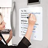 Small Dry Erase Board for Refrigerator,Inmorven Fridge Sheet Non-Magnetic White Board with Stain Resistant Technology for Glass,Kitchen,Office,Cabinet, Any Smooth Surface 11 x 17 inch