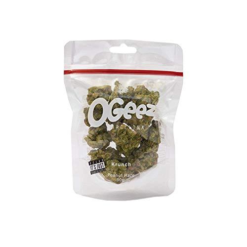 Ogeez Krunch Peanut Haze 50g - Knusper-Schokoladenstücke in Weed-Optik - Relax It ´ S Just Chocolate