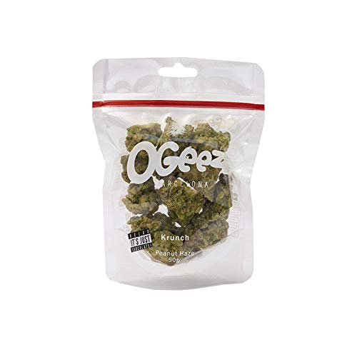 Ogeez Krunch Peanut Haze 50g - Knusper-Schokoladenstücke in Weed-Optik - Relax It ´ S Just...