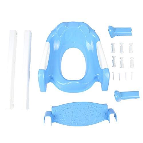 Sedile Vasino Riduttore WC per Bambini, Sedile per Toilette Portatile per Neonati con Scaletta WC Toilette Trainer Sicurezza per Bambini Ergonomico Antiscivolo Regolabile (blu + bianco)