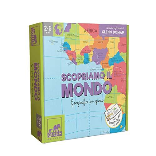 Scopriamo il mondo. Geografia in gioco. Ispirato agli studi di Glenn Doman. Ediz. illustrata. Con gadget. Con 52 Carte