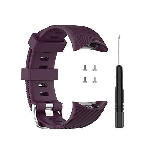 Bosixty Correa de Silicona Ajustable Reemplazo de Pulsera Accesorios para Garmin Swim 2 Correa de Reloj Natación Compatible con Garmin Forerunner 45 45S