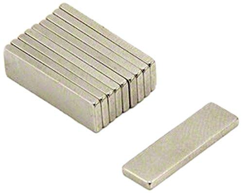 First4magnets F330-N35-10 20 x 6 x 1,5 mm dicken N35 Neodym-Magneten - 1,1 kg ziehen (Packung mit 10), silver, 25 x 10 x 3 cm, Stück