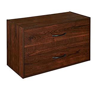 ClosetMaid 1306 Stackable 2 Drawer Horiztonal Organizer Dark Cherry
