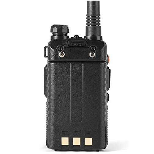 Ham Radio Walkie Talkie (UV-5R 8-Watt) UHF VHF Dual Band 2-Way Radio with 2 Rechargeable 2100mAh Battery Handheld Walkie… 5