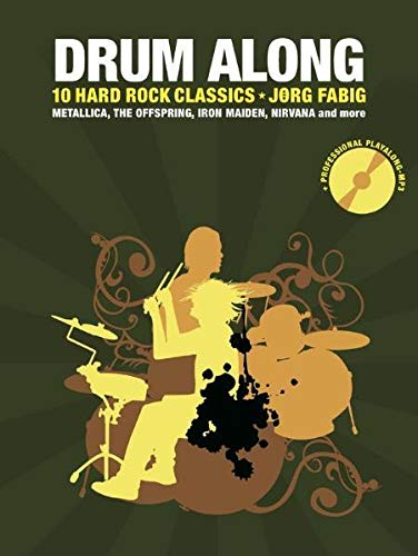 Drum Along - 10 Hard Rock Classics: Noten, Bundle, CD für Schlagzeug