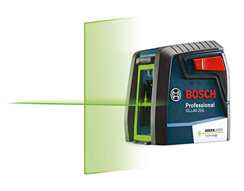 BOSCH GLL40-20G Green-Beam Self-Leveling Cross-Line Laser