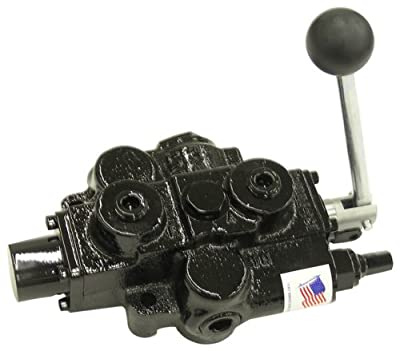 """Prince RD512CB5A4B1 Directional Control Valve, Single Spool, 4 Ways, 3 Positions, Tandem Center, 3 Position Detent (no centering spring), Cast Iron, 3000 psi, Lever Handle, 30 gpm, In/Out: 3/4"""" NPTF, Work 1/2"""" NPTF by Prince Manufacturing"""