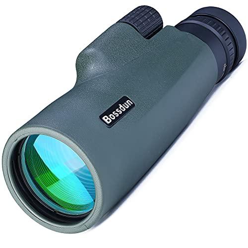 Monocular Telescopio 10-30x50, HD Monocular con Trípode Soporte para Smartphone para Adultos, Observación de Aves, Turismo, Senderismo, Viajes, Acampada, Deportes