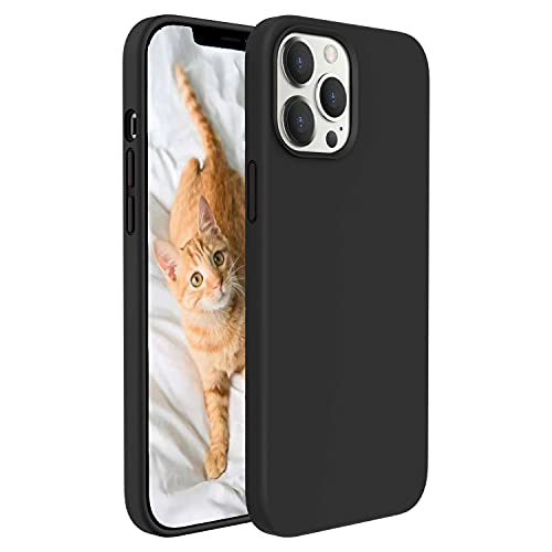 GOODVISH Compatible with iPhone 12 Pro Case Liquid Silicone Gel Full Body Protection Cover Shockproof Drop Protection Case Non-Slip Anti Yellowing & Scratch for iPhone 12 6.1'' Case, Magic Black