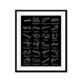Formula 1 Race Track F1 Circuit 2021 Inspired Poster Print Wall Art Handmade Decor