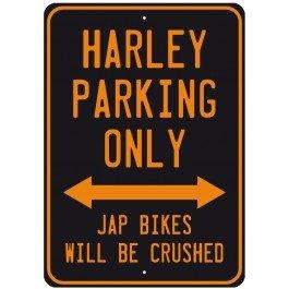 Harley Parking Only, Bikes.../Kleines Metallschild, Aufspruch '