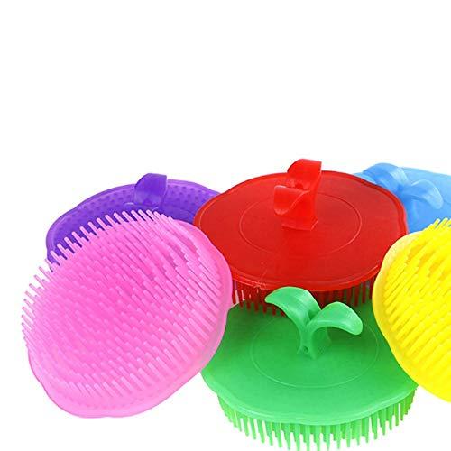 1 pc Shampooing brosse Peigne De Massage Brosse Cheveux De Poche En Silicone Tête Shampooing Cuir Chevelu Lavage Cuir Chevelu Nettoyer Peigne Soins En Profondeur