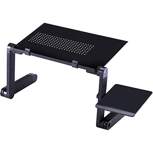 Yaootely Portable Laptop Desk Foldable Vertical Table Adjustable Laptop Desk with Mouse Board Computer Desk Bookshelf
