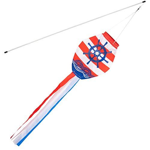 Windsack Rip-Stop Nylon Windrichtungsmessung Sockentasche mit reflektierendem G/ürtel f/ür den Au/ßenbereich Airport Farm /& Park-80cm