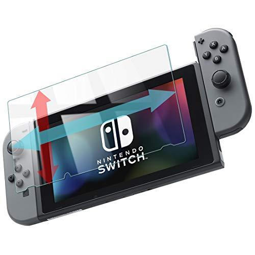 スイッチ 保護フィルム switch ガラスフィルム 透明 【つるつる度UP】 Nintendo Switch スマブラ 対応 硬度9H 指紋防止 日本製 素材【WANLOK】switch 透明