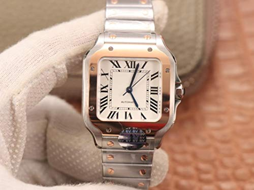 yuge Reloj mecánico automático de oro rosa de 18 quilates con movimiento suizo