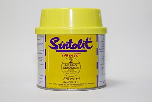 Sintolit LITFDTMABI Mastice Stucco per Marmo, Bianco