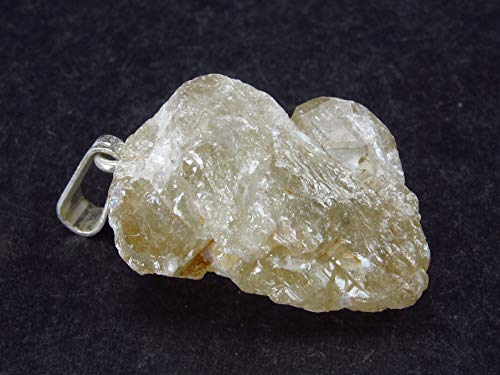 The Russian Stone Cerussite - Colgante de plata de cristal de Marruecos (2,7 cm)
