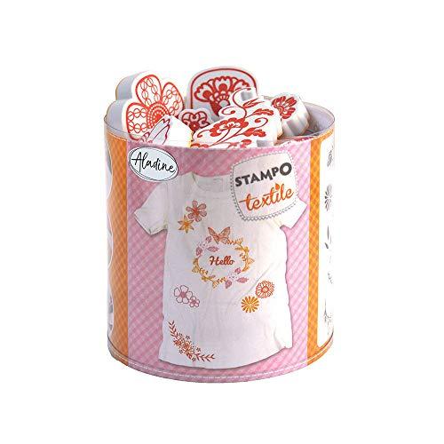Aladine 05264Stampo Textil-Krone Blume