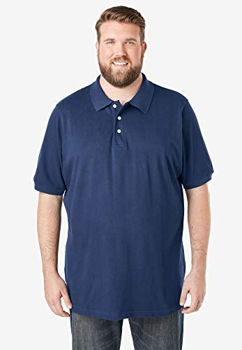 KingSize Men's Big & Tall Pique Polo Shirt, Royal Blue Marble Big-3Xl