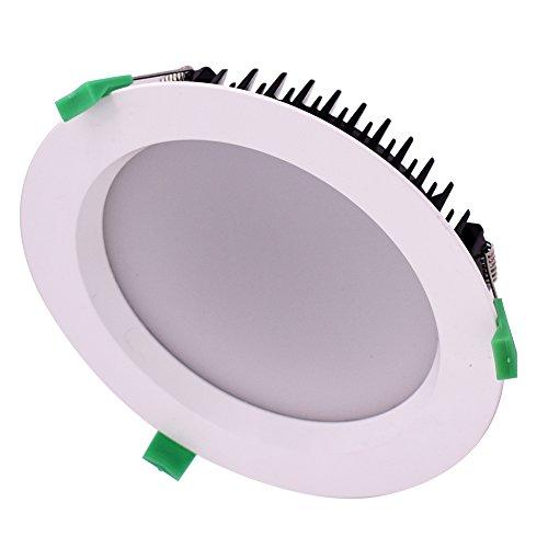 SISHINE - Juego de 12 luces LED de techo empotrables de 36...